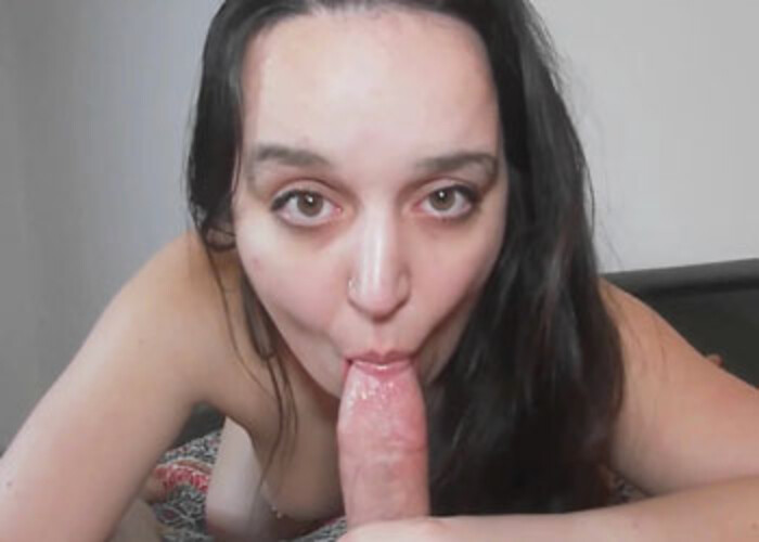 Mia Rose is swallowing a stiff cock
